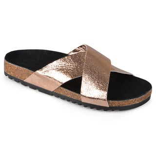 Journee Collection Women's 'Rosie' Comfort Sole Slide Sandals