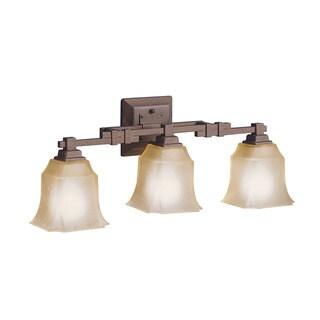 Transitional 3-light Tannery Bronze Bath/Vanity Light