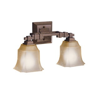 Transitional 2-light Tannery Bronze Bath/Vanity Light