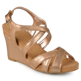 Journee Collection Women's 'Thea' Comfort Sole Strappy Wedge Sandals
