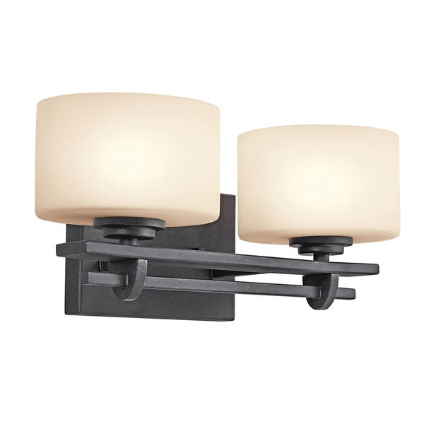 Shop Contemporary 2 Light Distressed Black Bath Vanity Light Free Shipping Today Overstock