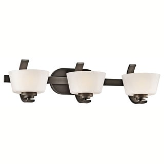Contemporary 3-light Olde Bronze Bath/Vanity Light