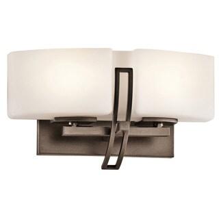 Contemporary 2-light Mission Bronze Halogen Bath/Vanity Light