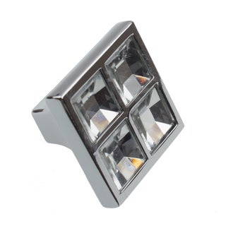 GlideRite Small 1-inch Square K9 Crystal Cabinet Knobs (Pack of 10 or 25)