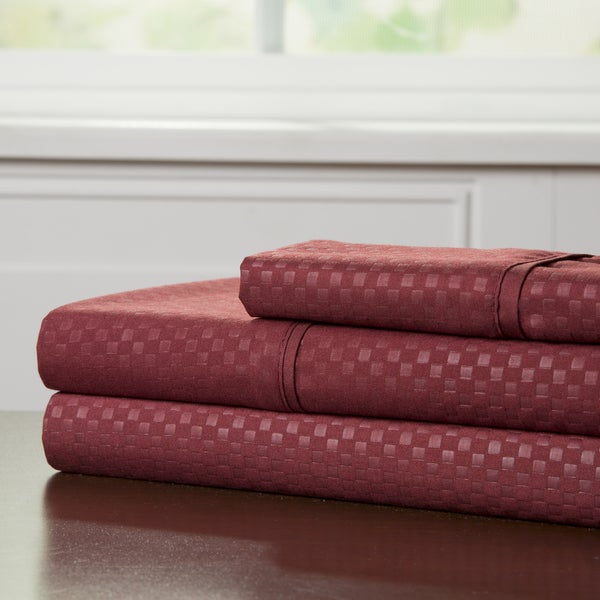 Windsor Home 90 GSM Embossed Deep Pocket Sheet Set