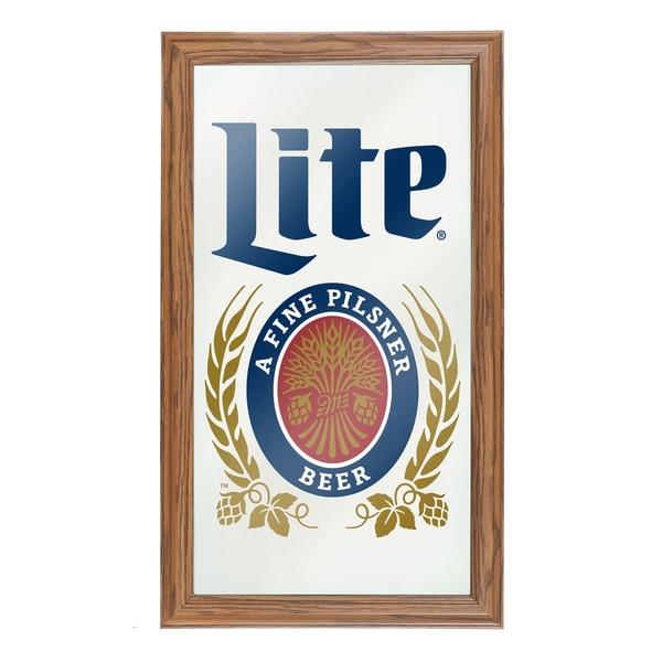 Miller Lite Framed Logo Mirror Free Shipping Today  : Miller Lite Framed Logo Mirror 36d34534 0ce7 4f1a 9fe6 90628847abc7600 from www.overstock.com size 600 x 600 jpeg 38kB