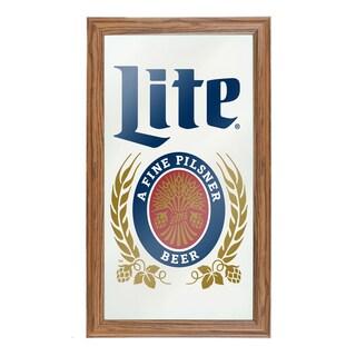 Miller Lite Framed Logo Mirror