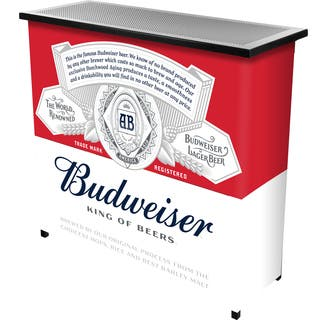 Budweiser Portable Bar with Case - Label Design|https://ak1.ostkcdn.com/images/products/10680430/P17743796.jpg?impolicy=medium