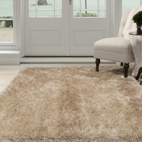"Windsor Home Shag Area Rug - Natural - 3'3"" x 5'"