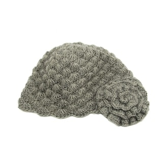 Handmade Gray Mollie Flower Cloche Hat (Nepal)
