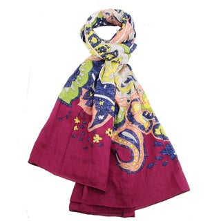 Handmade Multicolor Matisse Scarf (India)