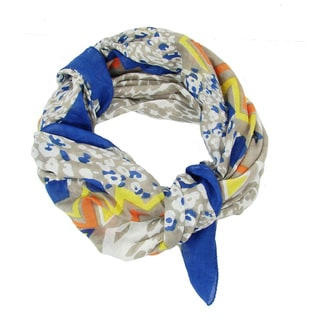 Handmade Cobalt Abstract Animal Scarf (India)