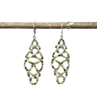 Metallic Lattice Earrings (India)