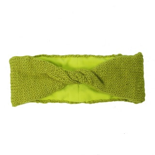 Handwoven Lined Twist Headband - Citron (Nepal)