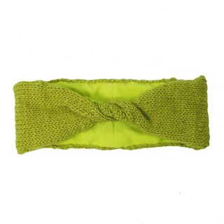 Handmade Lined Twist Headband - Citron (Nepal)