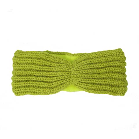 Handmade Lined Turban Headband - Citron (Nepal)