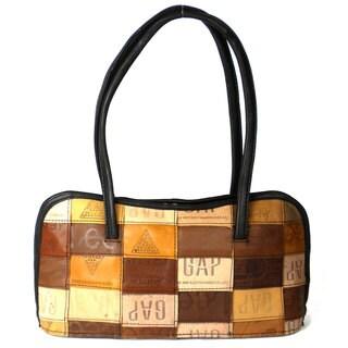 Handmade Upcycled Leather Label 'Anarkali' Bag (India)
