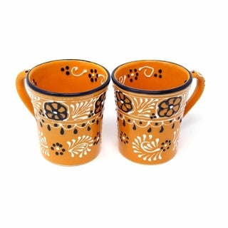 Set of 2 Handmade Flared Cups in Mango - Encantada Pottery (Mexico)