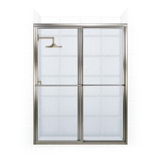 Newport Series 54-inch x 70-inch Framed Sliding Shower Door with Towel Bar