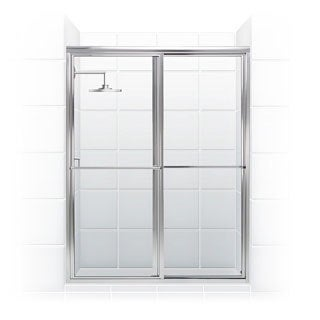 Newport Series 60-inch x 70-inch Framed Sliding Shower Door with Towel Bar