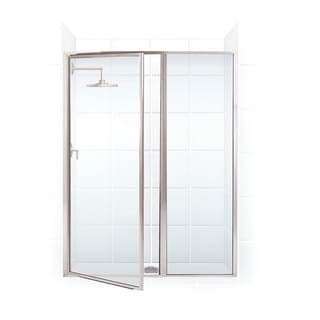 Legend Series 54.5-inch to 56-inch x 69-inch Framed Hinge Swing Shower Door with Inline Panel