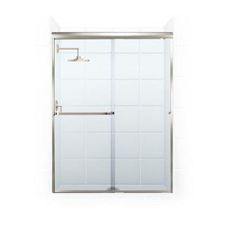 Paragon 3/16 B Series 56-inch x 65-inch Frameless Sliding Shower Door with Towel Bar