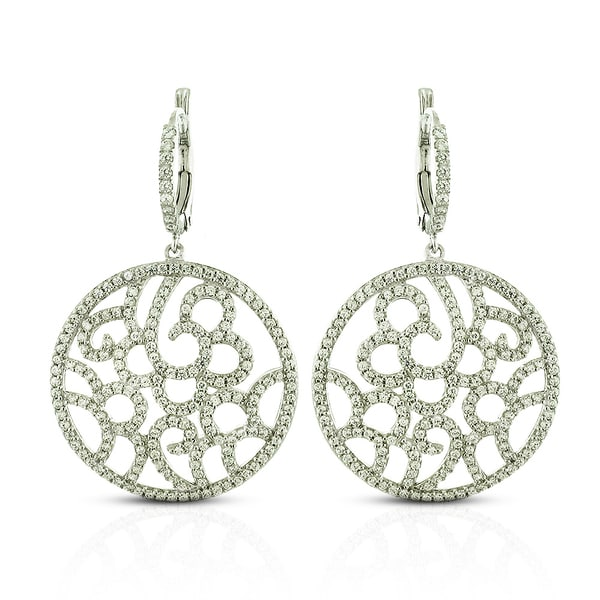d642e5cca Shop Sterling Silver Cubic Zirconia Filigree Micro-Pave Earrings ...
