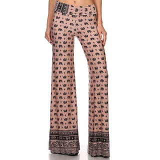 MOA Collection Women's Palazzo Pants with Elephant Print|https://ak1.ostkcdn.com/images/products/10680682/P17744014.jpg?impolicy=medium