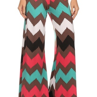 MOA Collection Women's Chevron Palazzo Pants