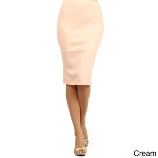 MOA Collection Women's Solid Color Pencil Skirt (More options available)