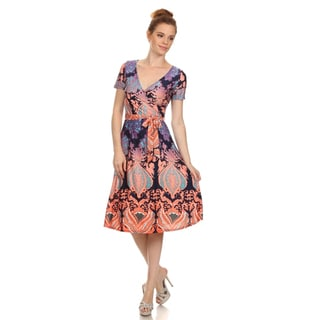 MOA Collection Women's Plus Size Print Dress