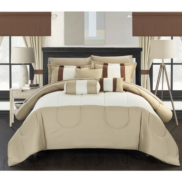 Chic Home 20-piece Whitehall Complete Bed-in-a-Bag Comforter Set with Window Treatment
