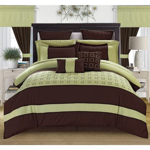 Porch & Den Oldfield Green 25-piece Bed in a Bag with Sheet Set