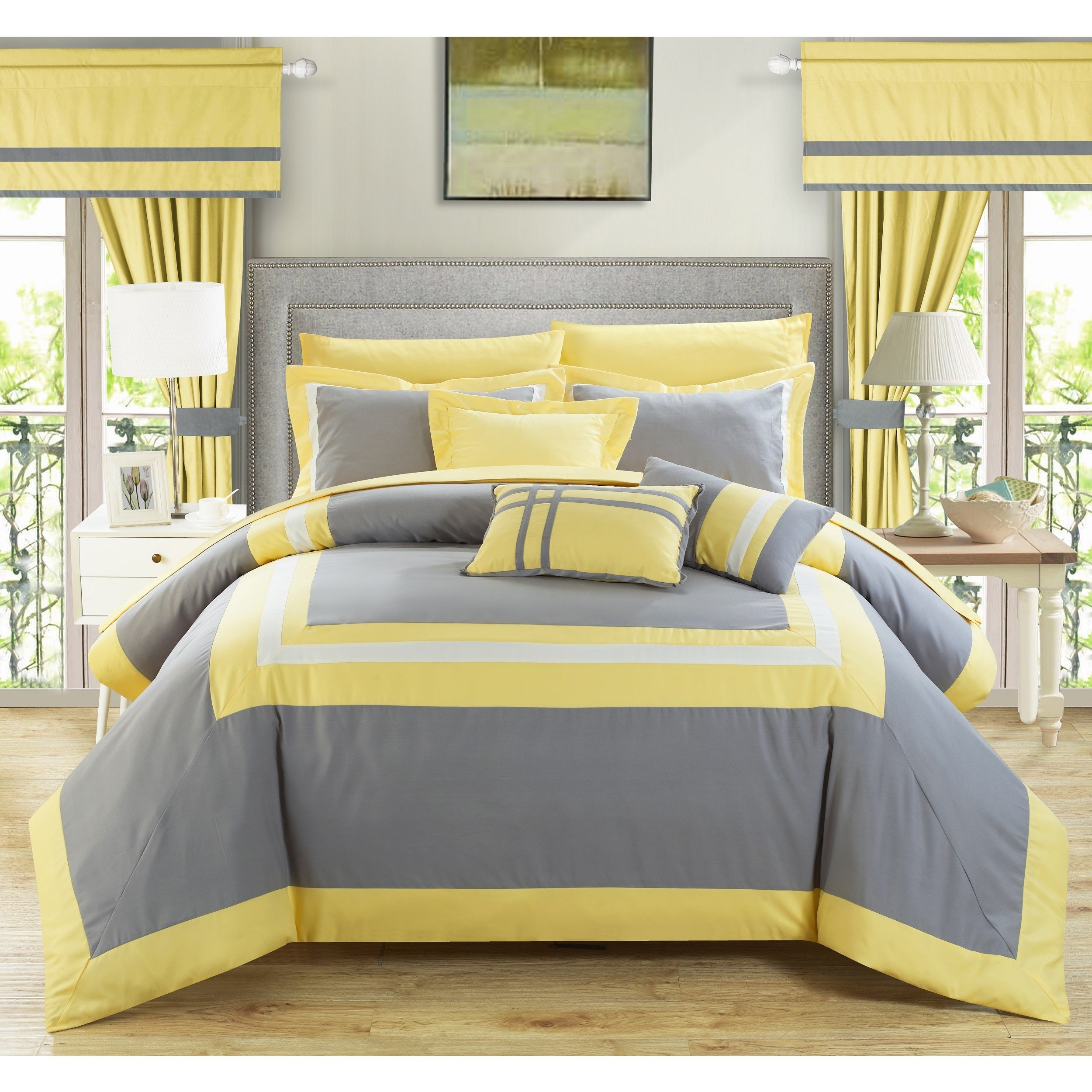 Chic Home 20-piece Christofle-pieced Color Blocked Comfor...