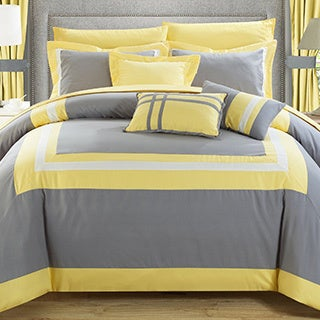 Chic Home 20-piece Christofle-pieced Color Blocked Comforter Set Room in a Bag