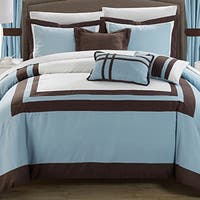 Copper Grove Minesing 20-piece Blue Color Blocked Comforter Set