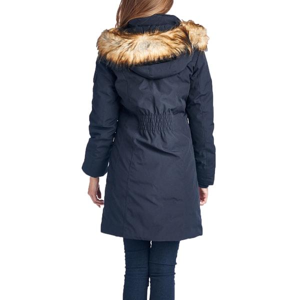 Michael Michael Kors Women's Navy Blue Down Parka Coat - Free ...