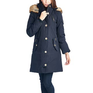 Michael Michael Kors Women's Navy Blue Down Parka Coat|https://ak1.ostkcdn.com/images/products/10680767/P17744090.jpg?impolicy=medium