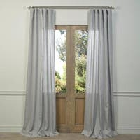 Exclusive Fabrics Grey French Linen Sheer Curtain Panel