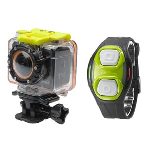 Coleman CX12WP+RC Bravo2 Full 1080p HD Waterproof Sports/ Action Camera Kit with Remote Control Watch and 8GB MicroSD Card
