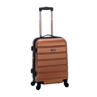 Rockland Brown 20-inch Expandable Hardside Carry-on Spinner Upright Suitcase