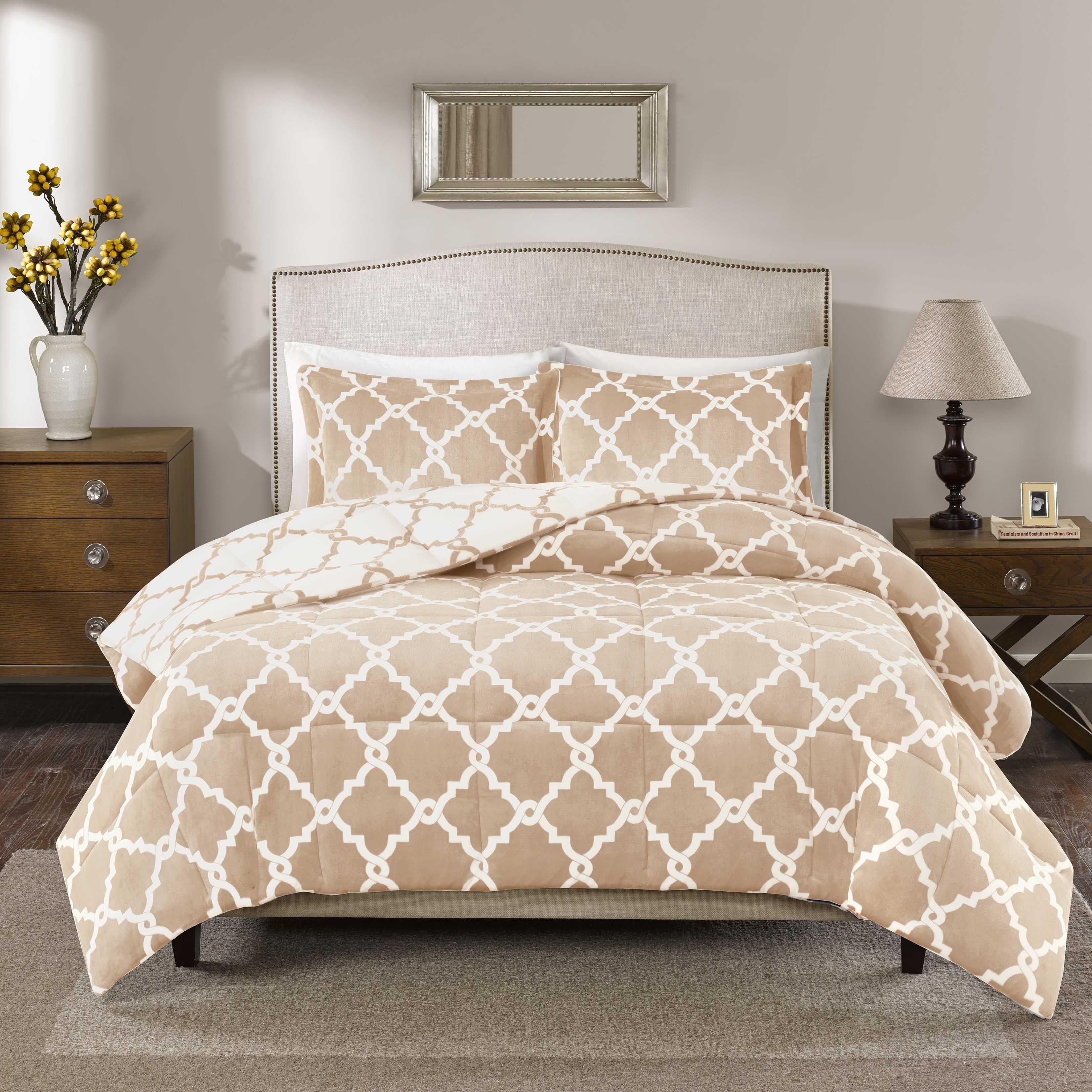 True North by Sleep Philosophy Alston Reversible Plush Down Alternative Comforter Mini Set