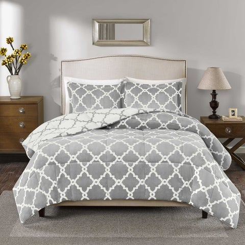 Porch & Den Crenshaw Reversible Plush Down Alternative Comforter Mini Set