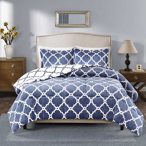 Porch & Den Crenshaw Reversible Plush Down Alternative Comforter Mini Set
