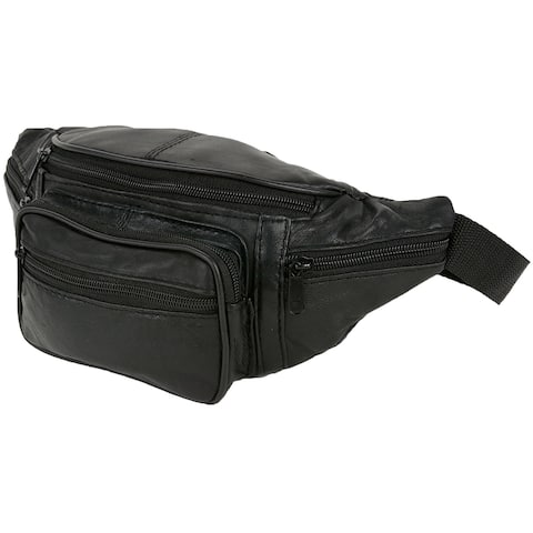 19c6524734a3c Small Size Leather Waist Hip Lumbar Fanny Pack With Multiple Pockets and  Smartphone Size Compartments