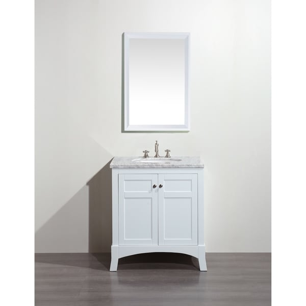 Shop eviva new york 30 inch white bathroom vanity with - 30 inch white bathroom vanity with sink ...