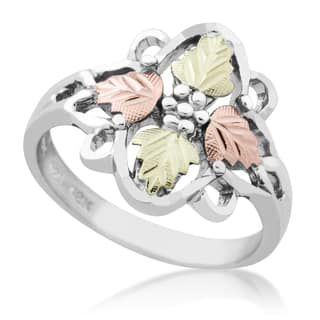 Black Hills Gold on Silver 4-leaf Ring|https://ak1.ostkcdn.com/images/products/10680820/P17744137.jpg?impolicy=medium