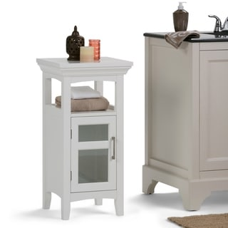 WYNDENHALL Hayes 29.9 inch H x 15 inch W Floor Storage Bath Cabinet in White