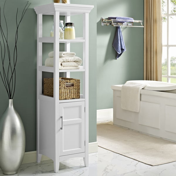 wyndenhall hayes bath storage tower in white free shipping today
