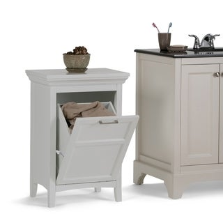 wyndenhall hayes laundry hamper in white option white